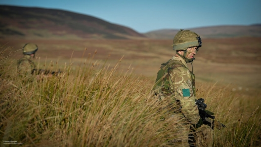 Paratroopers training in Northumberland, Dec. 2, 2014