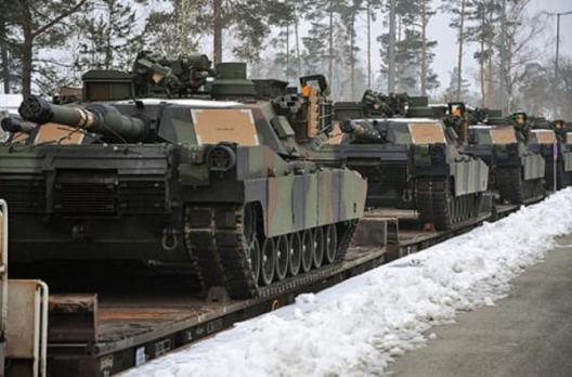 US Abrams tanks at Grafenwöhr, Germany