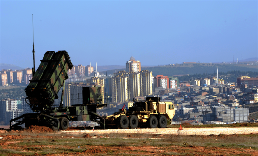 Patriot missile system deployed in Turkey