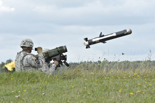 US soldiers testing a M98 Javelin Weapon System, Sept. 23, 2014