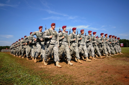 Paratroopers of the 82nd Airborne Division at Ft. Bragg, Oct. 9, 2014