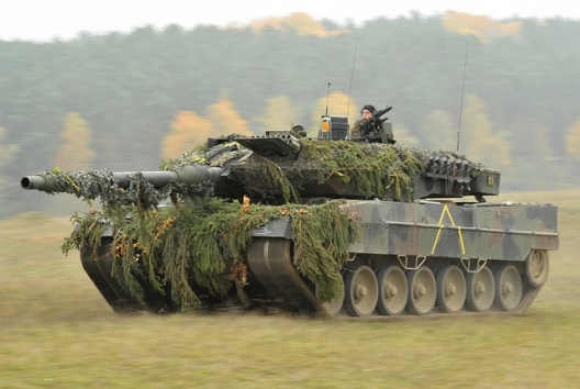A German Army Leopard II tank, Oct. 25, 2012