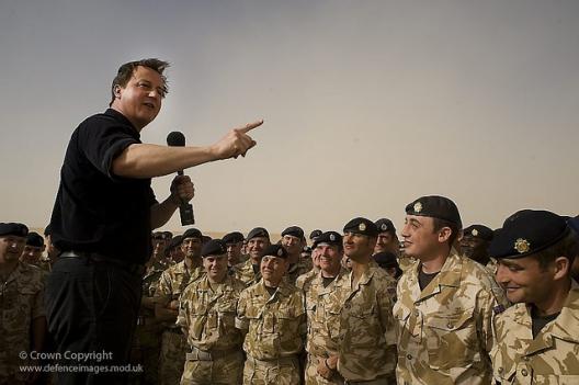 Prime Minister David Cameron visits British Troops in Afghanistan, June 11, 2010