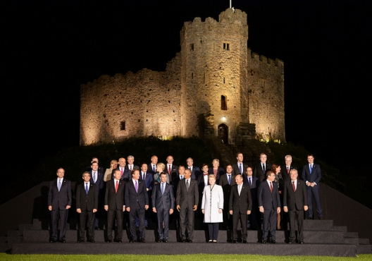 NATO leaders at Cardiff Castle, Sept. 4, 2015