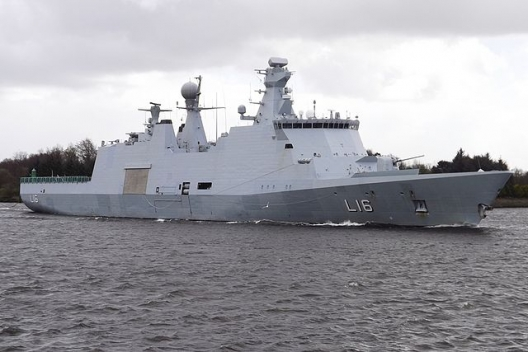 Danish warship Absalon, April 29, 2013