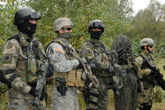 Members of Polish, Croatian, and US special forces, April 21, 2008