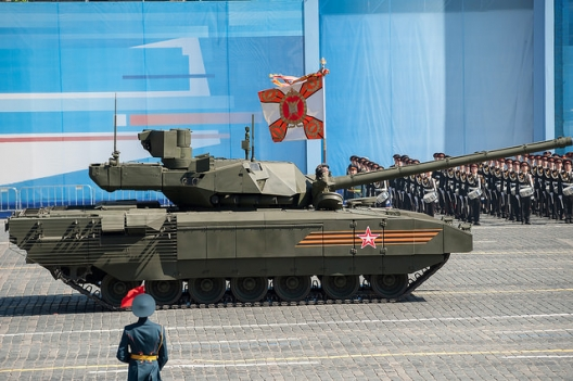 Armata tank in Victory Day Parade rehearsal, May 7, 2015