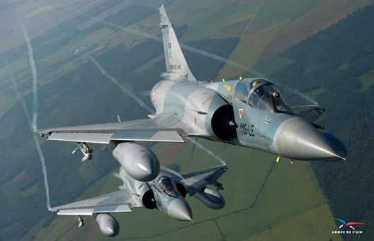A pair of French Mirage 2000s