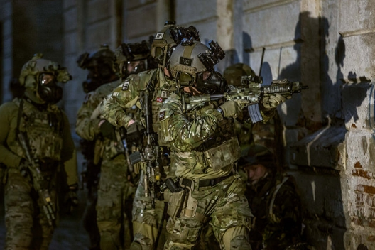Norwegian special forces participating in NATO Flaming Sword Exercise, May 28, 2015