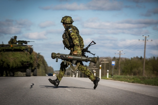 Estonian soldier participating in NATO's Steadfast Javelin Exercise, May 11, 2015