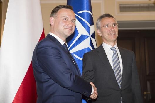 Polish President Andrzej Duda and Secretary General Jens Stoltenberg, June 18, 2015