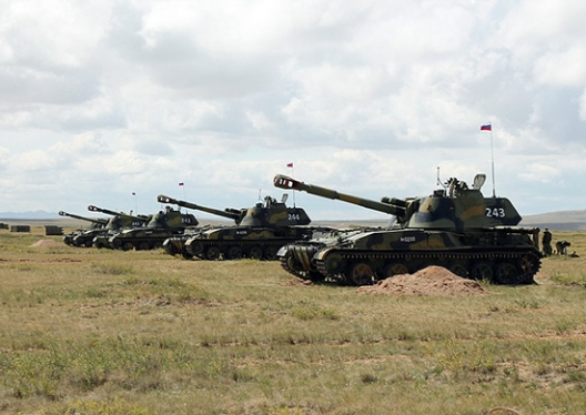 Russian military participating in SCO exercise, Augest 24-29, 2014