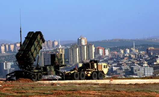 US Patriot missile unit near Gaziantep, Turkey, May 6, 2008