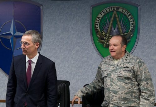 Secretary General Jens Stoltenberg and SACEUR Gen. Philip Breedlove, May 11, 2015