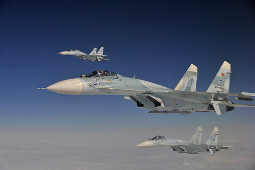 Russian Su-27 fighter jets, Aug. 27, 2013