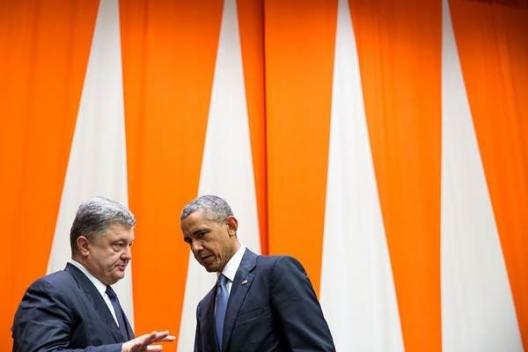 Ukrainian President Petro Poroshenko and President Barack Obama, Sept. 28, 2015