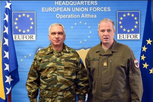 General Michail Kostarakos and General Johann Luif, March 4, 2016