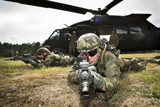 Troops participating in NATO Noble Jump exercise, June 14, 2015