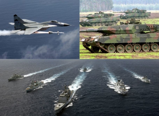 Photos: US Air Force, Bundeswehr, and US Navy