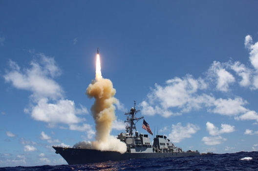 USS Fitzgerald participating in missile defense test, Oct. 25, 2012