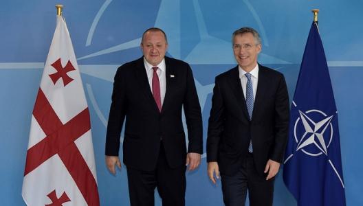 Secretary General Jens Stoltenberg and Georgia's President Giorgi Margvelashvili, June 8, 2016