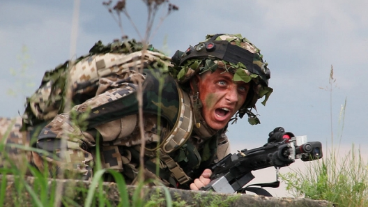 Latvian soldier participating in exercise Saber Strike, June 5, 2013