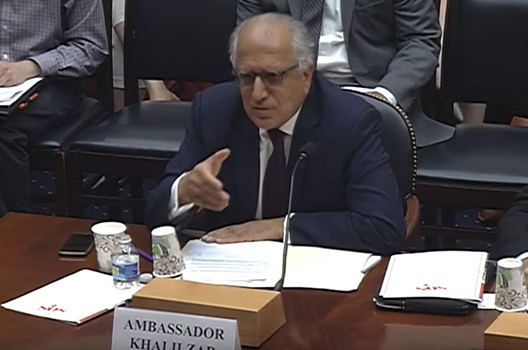 Khalilzad Testifies Before the House Committee on Foreign Affairs About Pakistan