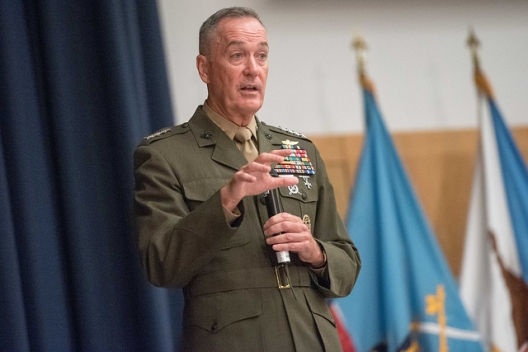 Gen. Joseph Dunford, chairman of the Joint Chiefs of Staff, August 23, 2016