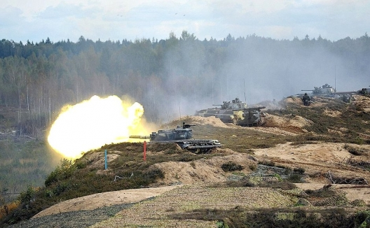 Russia's ZAPAD military exercise, Sept. 26, 2013