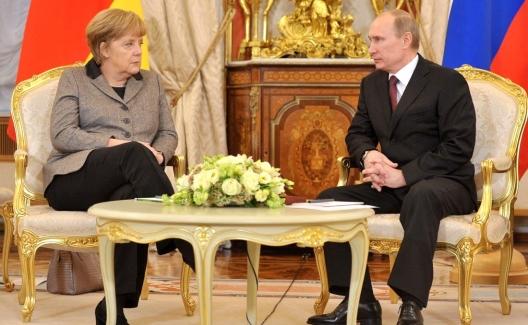 Chancellor Angela Merkel and President Vladimir Putin, Nov. 16, 2012