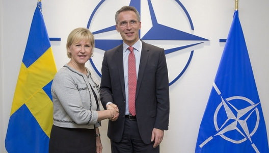 Foreign Minister Margot Wallstrom and Secretary General Jens Stoltenberg, March 16, 2015