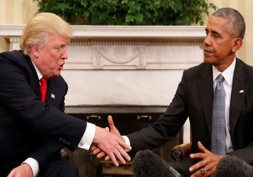 President Obama meets president-elect Trump