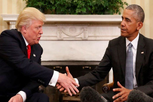 President Obama meets president-elect Trump
