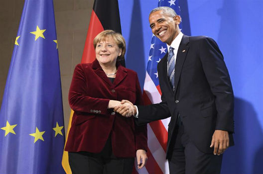 President Obama and Chancellor Merkel meet in Berlin
