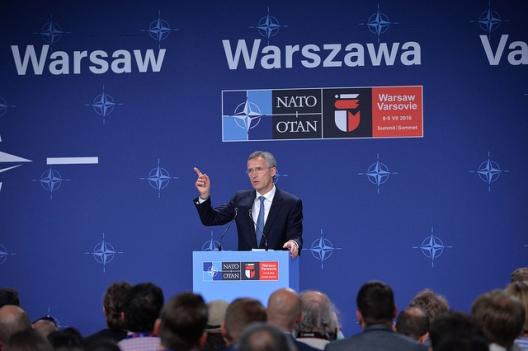 Secretary General Jens Stoltenberg at Warsaw Summit, July 6, 2016