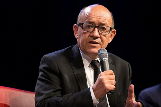 French Defense Minister Jean-Yves Le Drian, Oct., 18, 2016