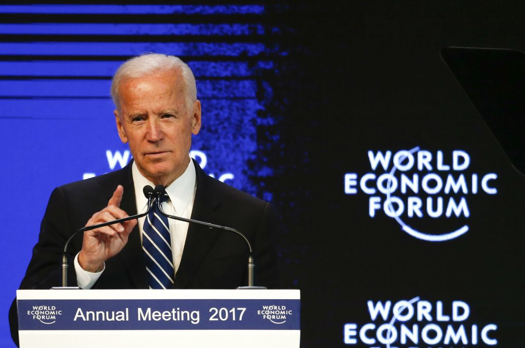 Beat Back Russia and Stand with Ukraine, Biden Urges at Davos