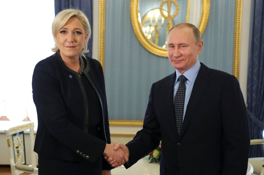 Why Putin's Flirtation with the French Far Right May Backfire