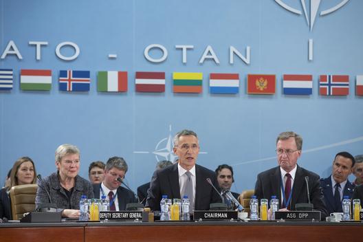 Secretary General Jens Stoltenberg at meeting of NATO defense ministers, Nov. 7, 2017
