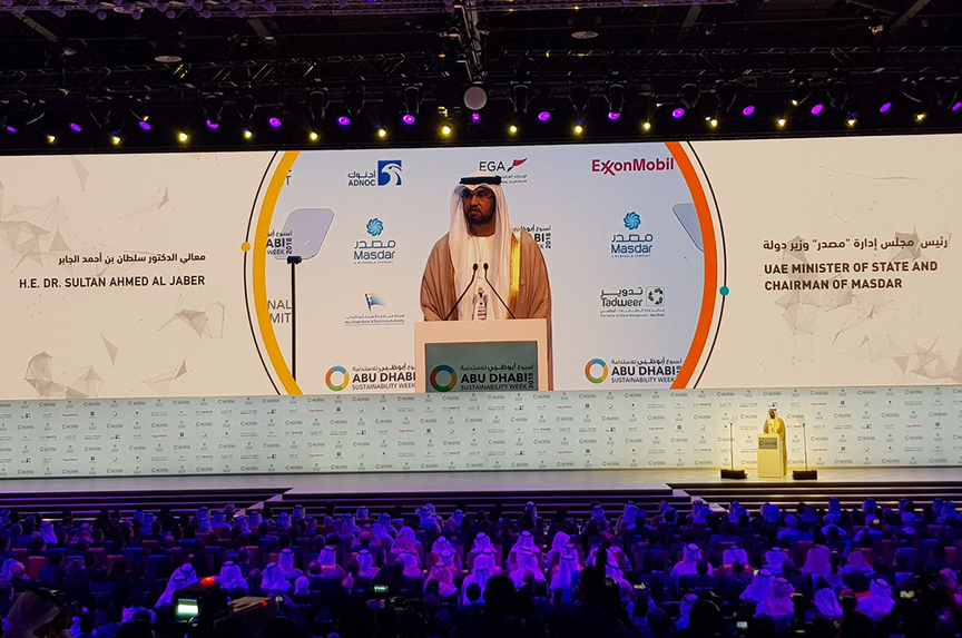 Dr. Sultan Al Jaber Speaks at the Opening of Abu Dhabi Sustainability Week and World Future Energy Summit