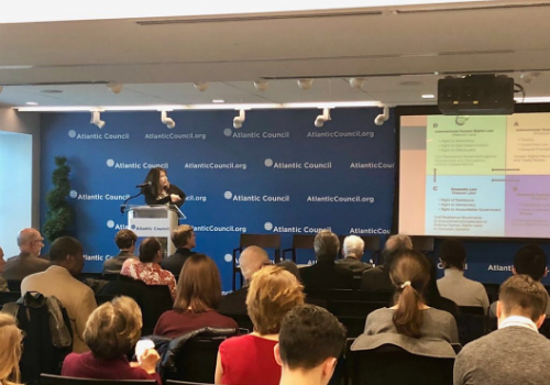 As a part of the ICNC's monograph launch, Dr. Elizabeth Wilson presented her core arguments behind the concepts of people power movements and international human rights.
