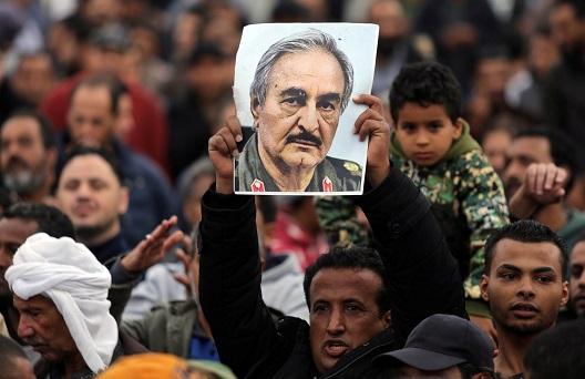 Libya's falling strongman