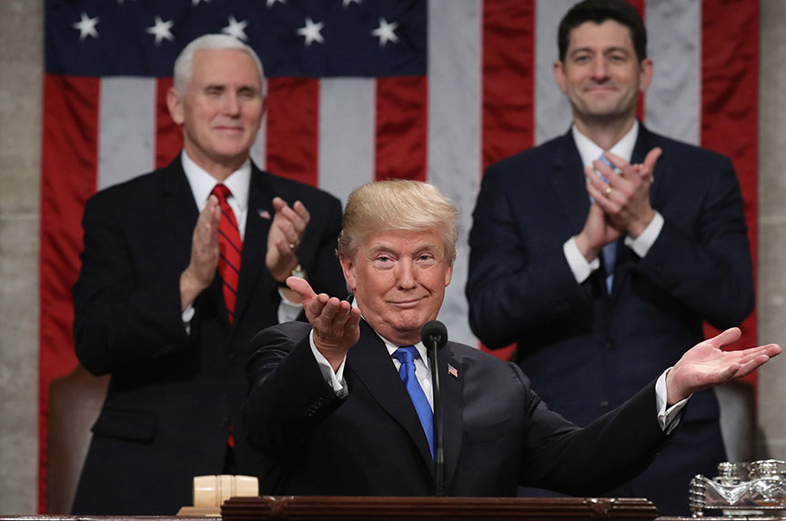 Our take on Donald Trump's first State of the Union