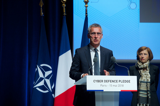 NATO Secretary General Jens Stoltenberg, Paris, May 15, 2018.