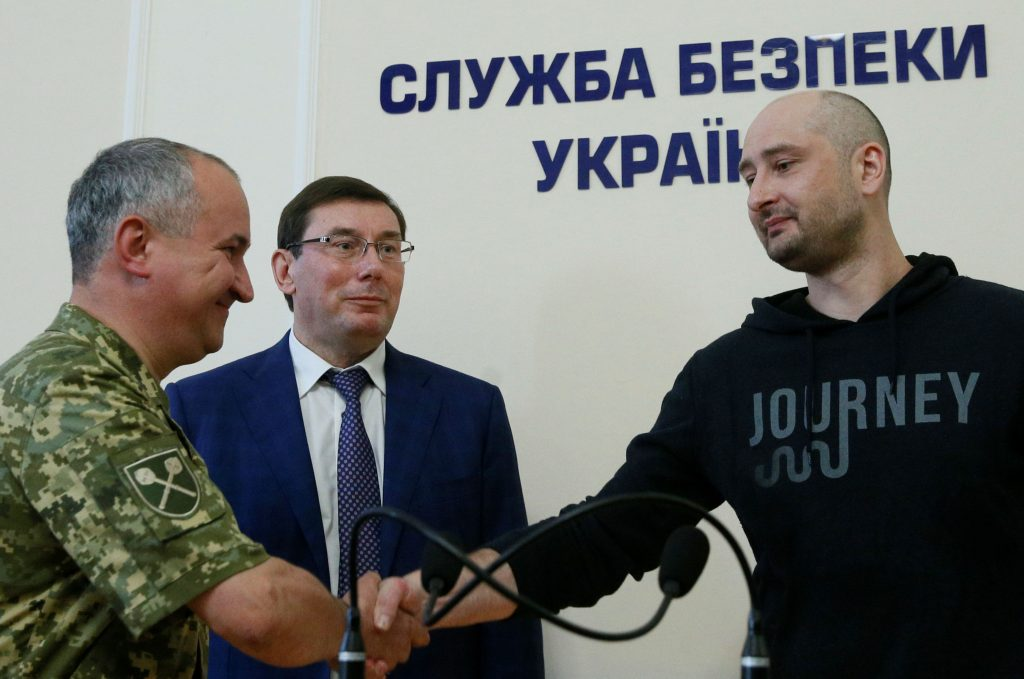 """Q&A: """"Dead"""" Russian Journalist Arkady Babchenko Is Alive and Well. Does Faking His Murder Help or Hinder Ukraine's Credibility?"""