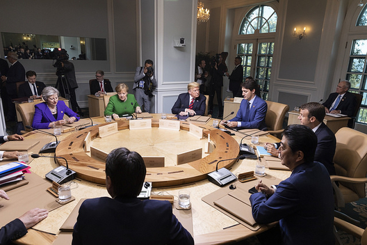 G7 leaders meeting in Canada, June 8, 2018 (photo: White House)