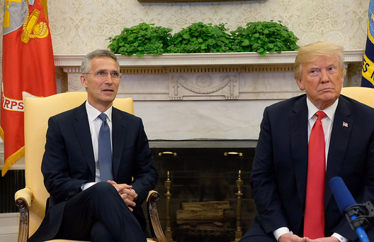 Secretary General Jens Stoltenberg and President Donald Trump, May 17, 2018 (photo: NATO)