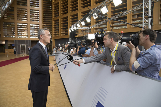 Secretary General Jens Stoltenberg at a meeting of the European Council, June 28, 2018 (photo: NATO)