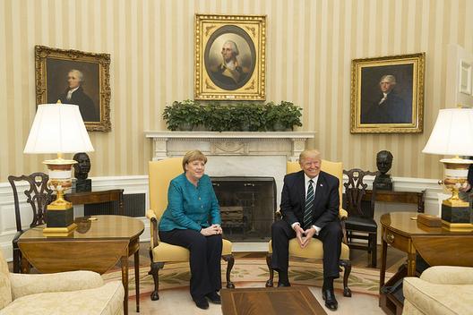German Chancellor Angela Merkel and President Donald Trump, March 17, 2017 (photo: White House)