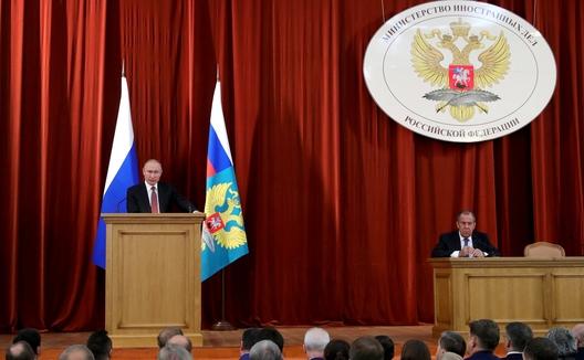 Putin Warns NATO Against Closer Ties with Ukraine and Georgia